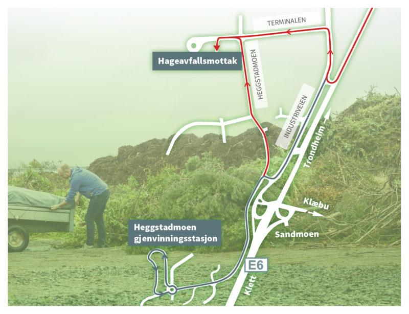 Kart over Heggstadmoen