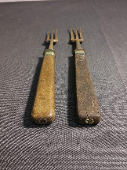 Antikk gaffel 2 stk 2