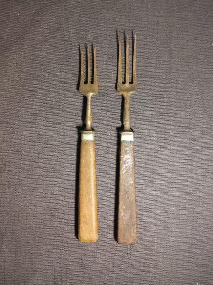 Antikk gaffel 2 stk 3
