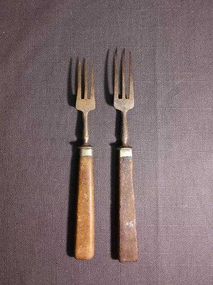 Antikk gaffel 2 stk