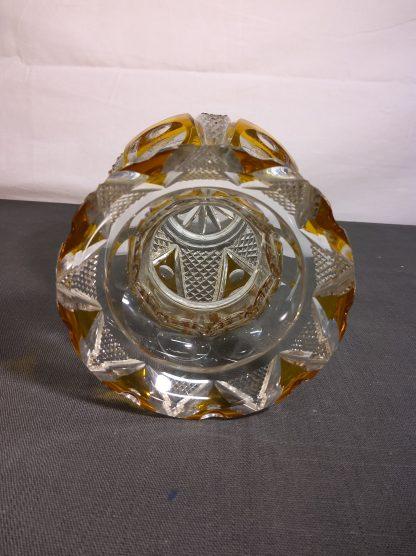 Krystall vase gul 2
