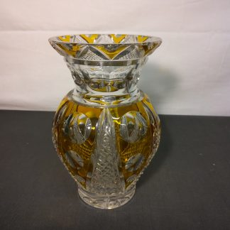 Krystall vase gul