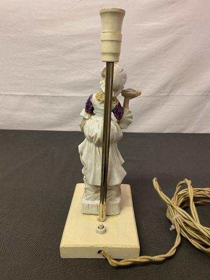 Vintage bordlampe porselensfigur 4
