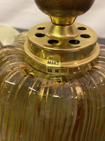 Vintage taklampe i glass 1