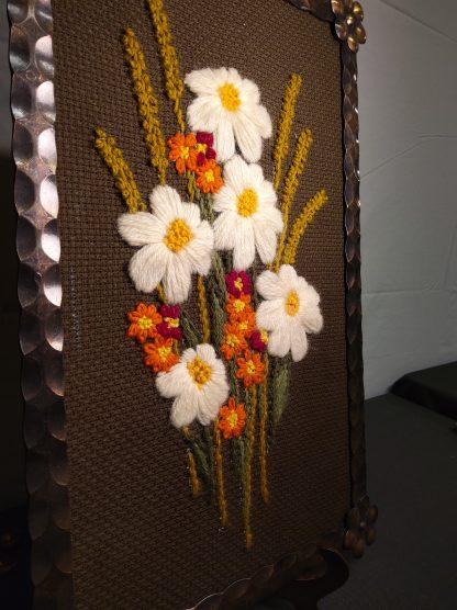 Broderi blomstermotiv 2 stk 2