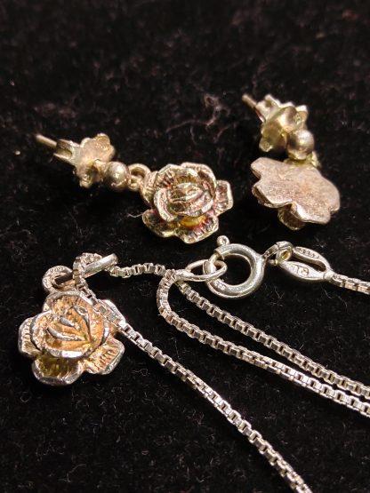 Rose smykke og øredobber 925 sølv 5