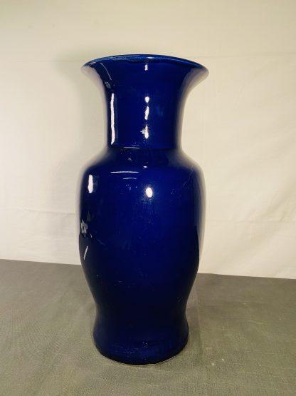 Stor blå vase