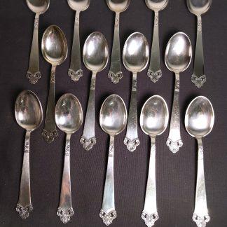 Sølvplett Silhouet 60gr 14 deler spiseskjeer