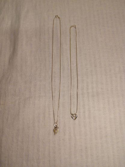 2 stk sølvsmykker tro og kjærlighet