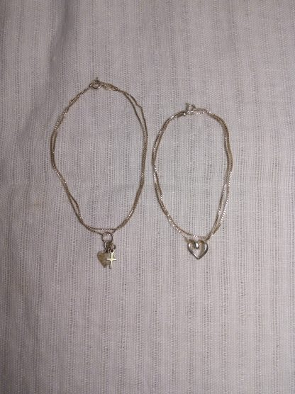 2 stk sølvsmykker tro og kjærlighet 4