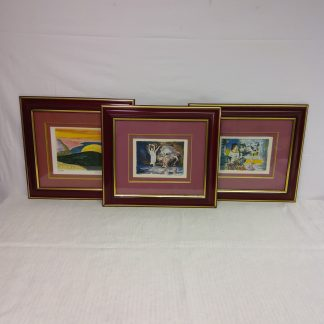 Orginal maleri med signatur 3 stk