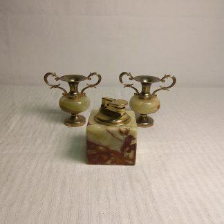 Vintage kvarts lighter og dekor