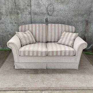 Beige sofa 2-seter med striper