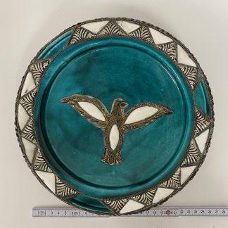 Keramikkfat vegghengt fugl