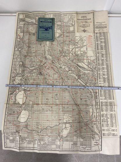 Vintage kart Minneapolis 1