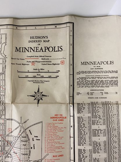 Vintage kart Minneapolis 2