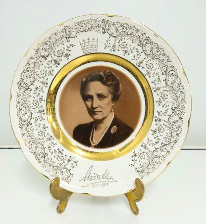 Minnetallerken med bilde av kronprinsesse Märtha