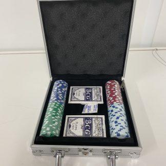 Pokersett liten koffert