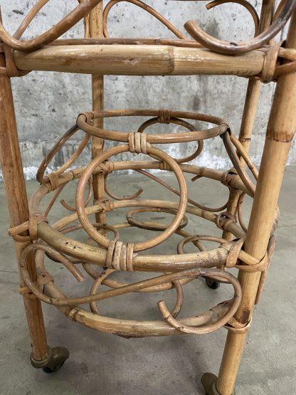Liten barvogn i bambus 1
