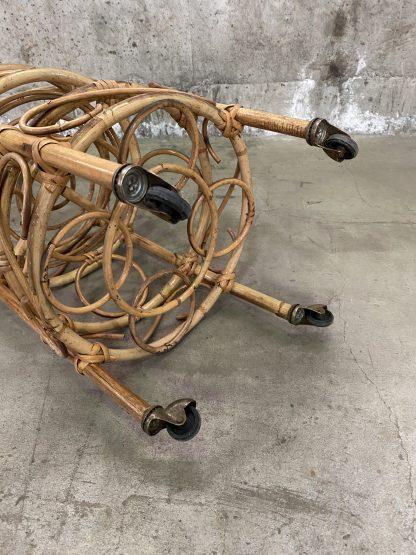 Liten barvogn i bambus 3
