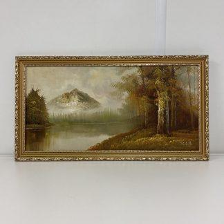 Maleri landskap gullramme