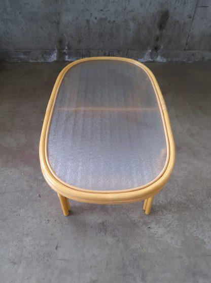 Manilla stuebord med glassplate