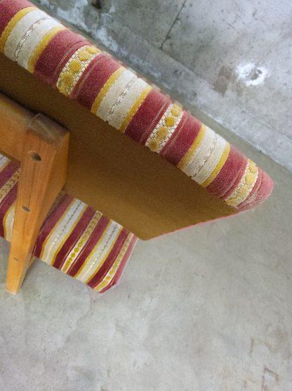 Retro sofa med puff 2