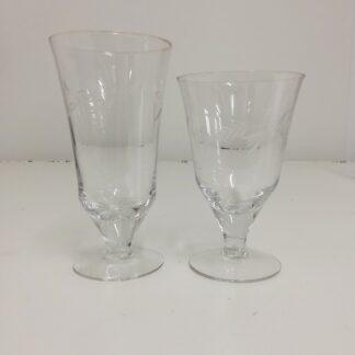 10 stk stetteglass med gravert dekor