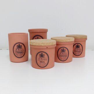 C. H. Brannam vintage terracotta kjøkkenkrukker