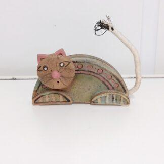 Håndlaget keramikk katt 1