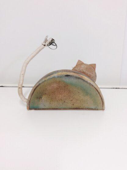 Håndlaget keramikk katt 2