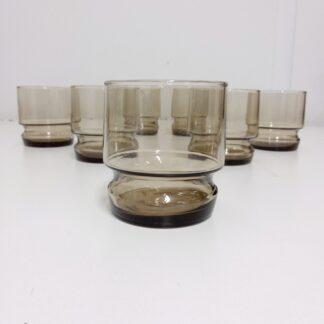 Vintage wiskey glass 7 stk