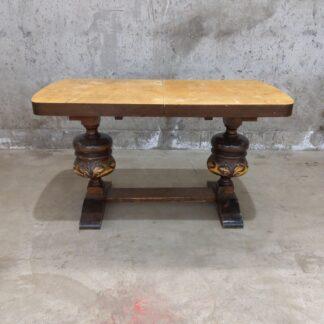 Vintage stuebord med ileggsplater